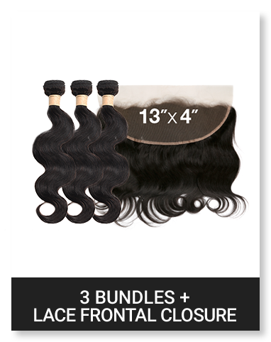 3 Bundle with Lace Frontal Closure