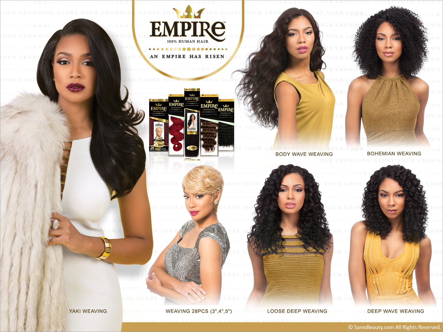 Sensationnel Human Hair Weave Empire Loose Deep Weaving Samsbeauty