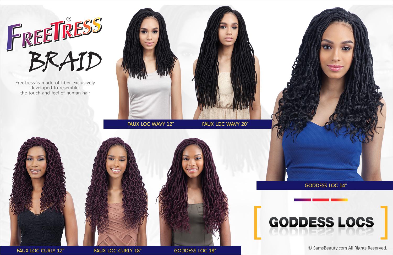 Freetress Synthetic Hair Crochet Braids 2x Soft Faux Loc Wavy 20