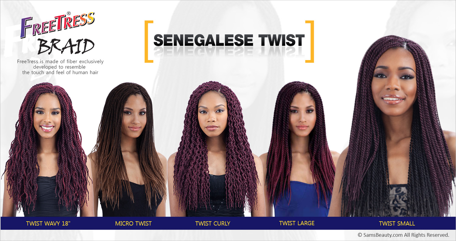 Freetress synthetic hair crochet braids senegalese twist small freetress is made of fiber exclusively developed to resemble the touch and feel of human hair pmusecretfo Choice Image